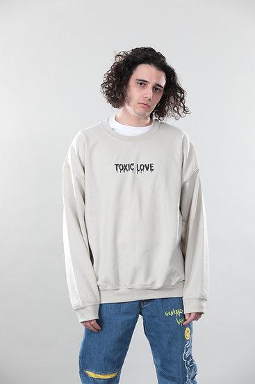 "Sweatshirt ""TOXIC LOVE"" Sand"