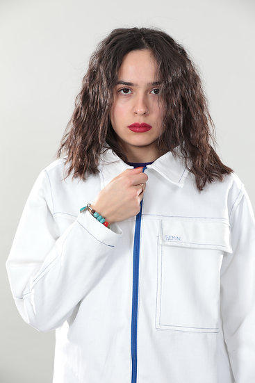 Jeans Jacket White