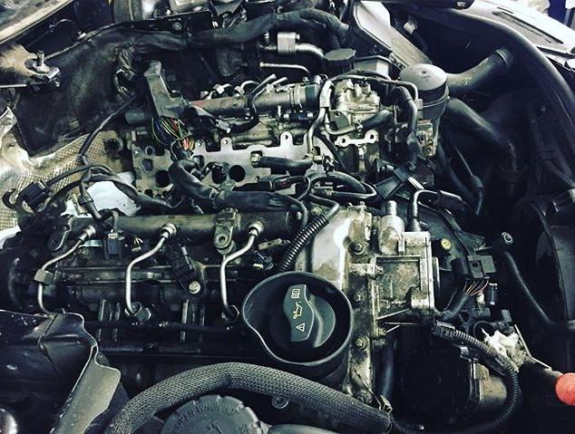 #om642 ремонт вихревых заслонок и тяг