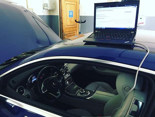 Ц-купе в кузове #w205 на техобслуживании