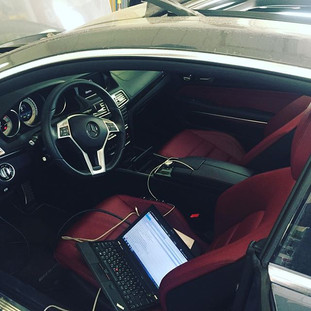 Е-купе w207 на техническом обслуживании