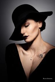 PixRez - Reza Hadian, London fashion & beauty photographer. Brown smokey makeup beauty in Reza's studio using Godox AD400 pro and Godox AD200pro
