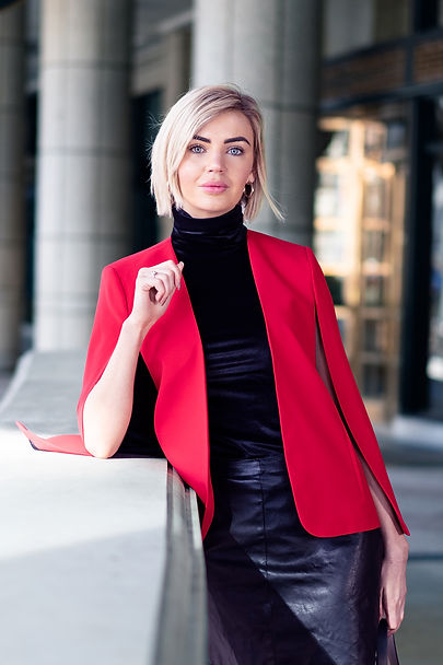 Reza Hadian Photography pixrez fashion editorial photography in streets of London red coat women's clothes style