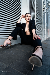 PixRez - Reza Hadian, London fashion & beauty photographer. How to pose in trouser-suit for a Fashion editorial shoot