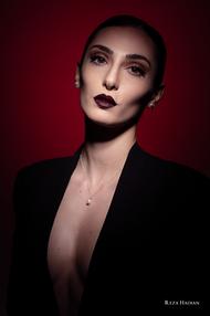 PixRez - Reza Hadian, London fashion & beauty photographer. Brown smokey makeup beauty shot in Reza's studio using Godox AD400 pro and Godox AD200pro