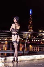 PixRez - Reza Hadian, London fashion & beauty photographer. An edgy and bold lingerie photoshoot on millennium bridge