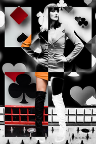 PixRez - Reza Hadian, London fashion & beauty photographer. Poker Lady is from Reza's fine art collection. A very creative and artistic application for inverting edit