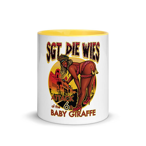 Attack of the 6 ft. Baby Giraffe Mug with Color Inside copy