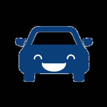 笑っている車の画像です。