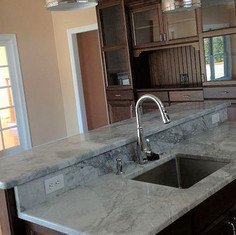 Super White Quartzite Kitchen Countertop