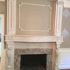 Bianco Antico Granite Fireplace