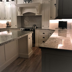 White Ice Granite Kitchen