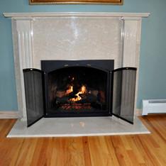 Botticino Marble Fireplace