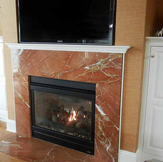 Rojo Alicante Marble Fireplace