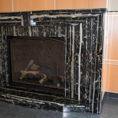 Nero Portoro Marble Fireplace