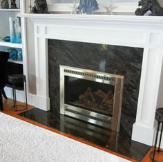 Bross Blue Granite Fireplace