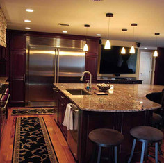 Crema Bordeaux Granite Counter and Island
