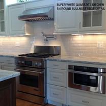 Super White Quartzite Kitchen
