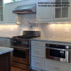 Super White Quartzite Kitchen