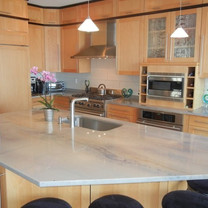 Blue Maccaubas Quartzite Kitchen
