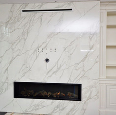 Neolith fireplace