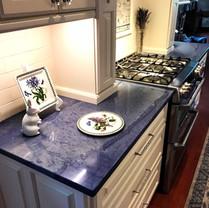 Blue Maccaubas Kitchen