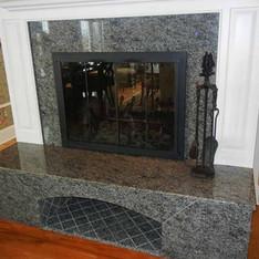 Blue Eyes Granite Fireplace