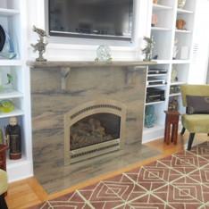 Wild Sea Granite Fireplace