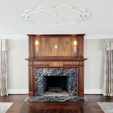 Nero Portoroo Marble Fireplace Surround