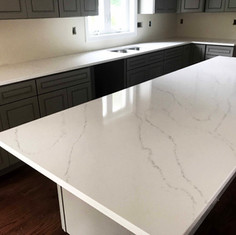 Quartz Countertop and Island