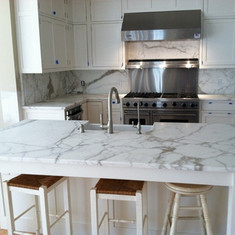 Calacatta Gold Marble Kitchen