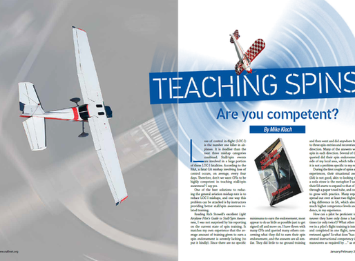 """Teaching Spins - Are You Competent?"""