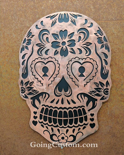matte black #goingcustom #diadelosmuertos #skull #copper #art #w