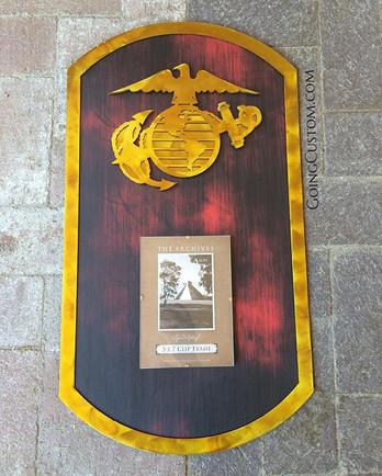 24_ tall #goingcustom #makingithappen #art #Marines #USMC #Military #America #dogtags #dogtag #steel #metal #bringonthecopycats #picturefram