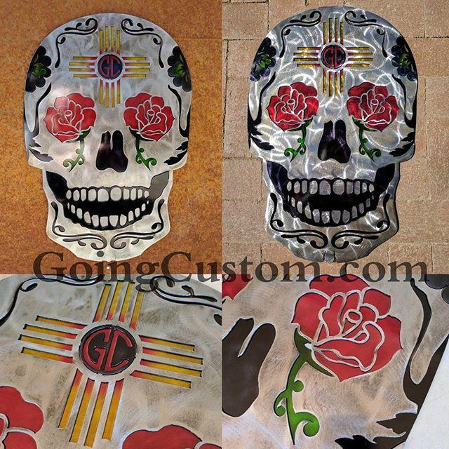 24_ tall - headed out to TX #goingcustom #sugarskull #skull #diadelosmuertos  #art #zia #albuquerque #santafe #riorancho #lowbrowart #newmex