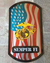 24_ tall #goingcustom #makingithappen #art #Marines #USMC #Military #Flag #America #dogtags #dogtag #steel #metal