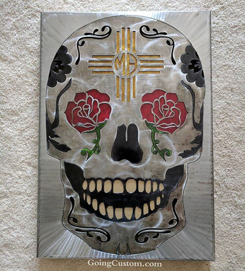 30_ tall - personalized for a birthday present #goingcustom #art #zia #sugarskull #diadelosmuertos #wallart #lowbrow #lowbrowart #skull #ros