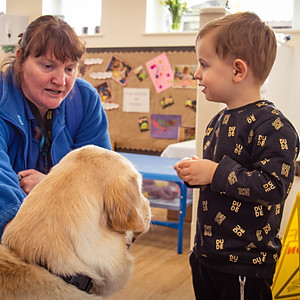 Alfreton Nursery - Guide Dog Visit