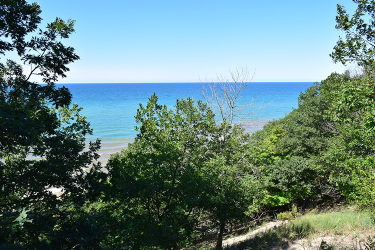 elevated view over Lake Michigan