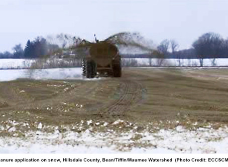 Spreading manure on frozen ground risks Michigan's water safety