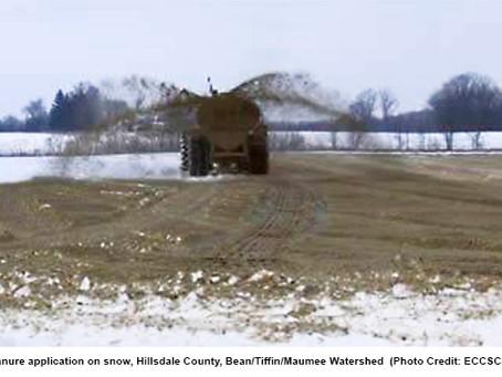 Spreading manure on frozen ground risks Michigan's water safety