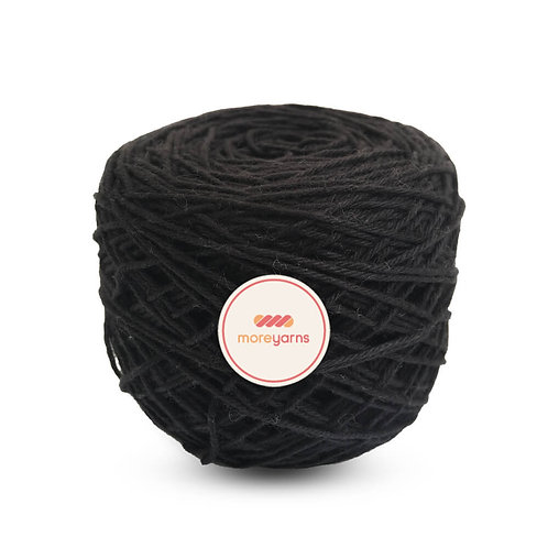 KB 4 Ply Premium Cotton Yarn Ball - Shade - BLACK