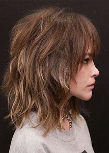 Medium Layered Hairstyles Women's Wavy S