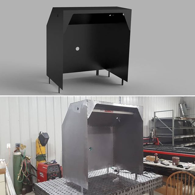 From design to build on a custom powder coating hood