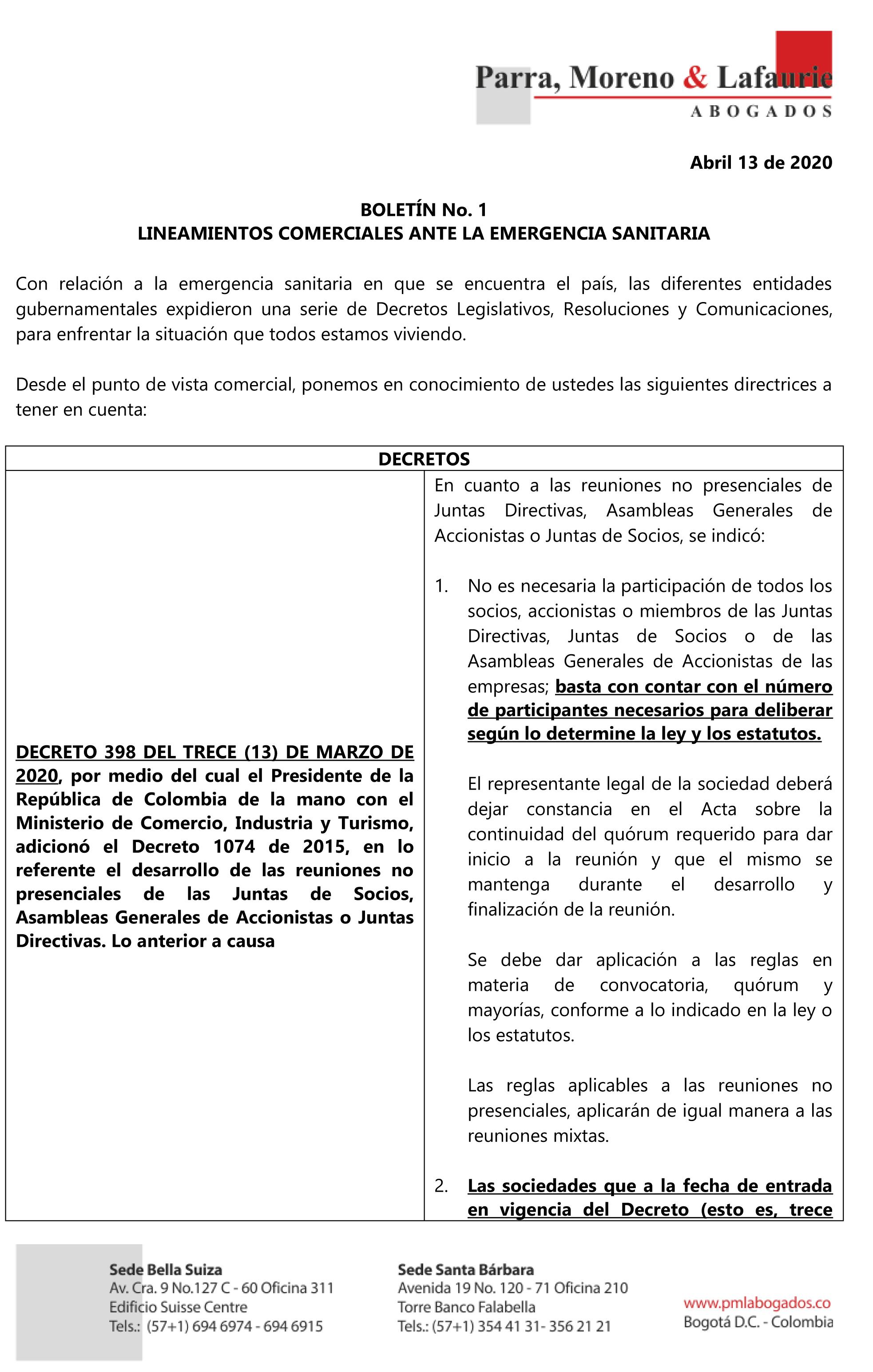 BOLETÍN No. 1 COVID-19 PARRA MORENO 140420-4