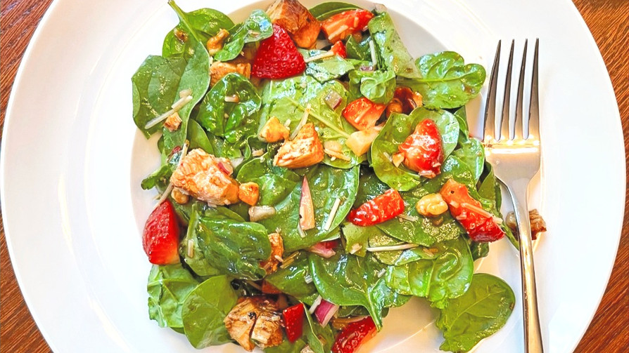 Strawberries & Spinach Salad