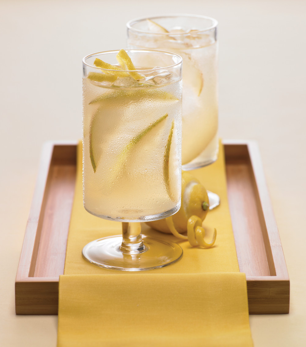 Ginger Lemon Pear Iced Green Tea