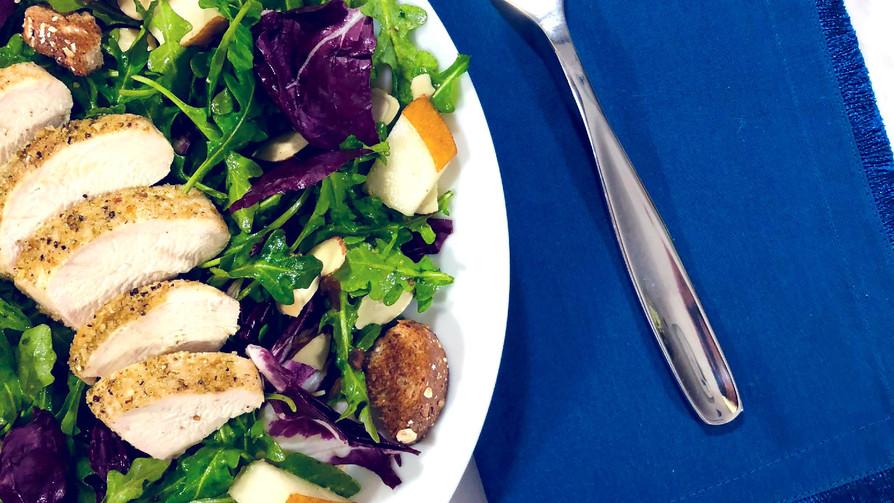 Pear & Arugula Chicken Salad (Low Sodium)