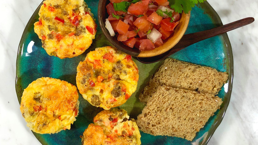 Veggie Egg Bites (Low Sodium, Breakfast-To-Go)