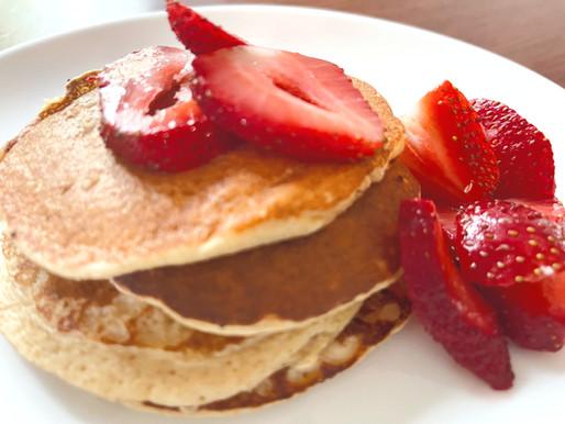 Protein Pancakes & Strawberries
